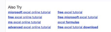 Yahoo Suggestions