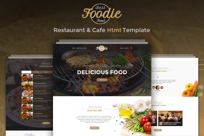 Foodie - Restaurant & Cafe Html Template | Codeboxr