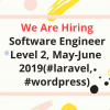 Job : Software Engineer Level 2, May-June 2019(#laravel, #wordpress)