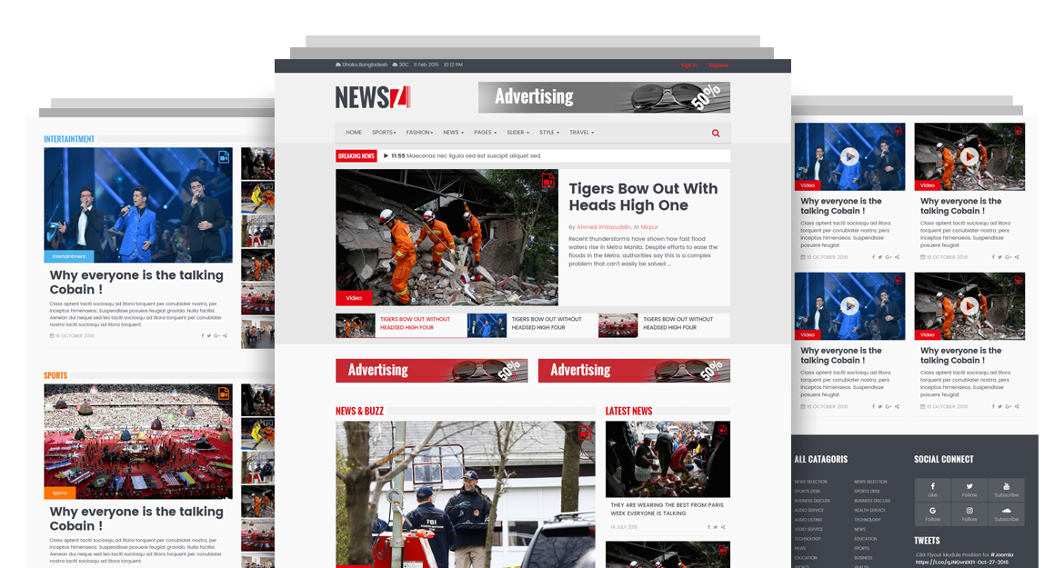 newsz news magazine html template codeboxr