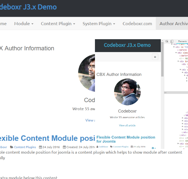 CBX Author Post Archive for Joomla