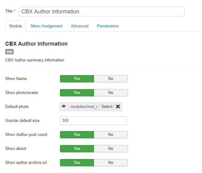CBX Author Information Module