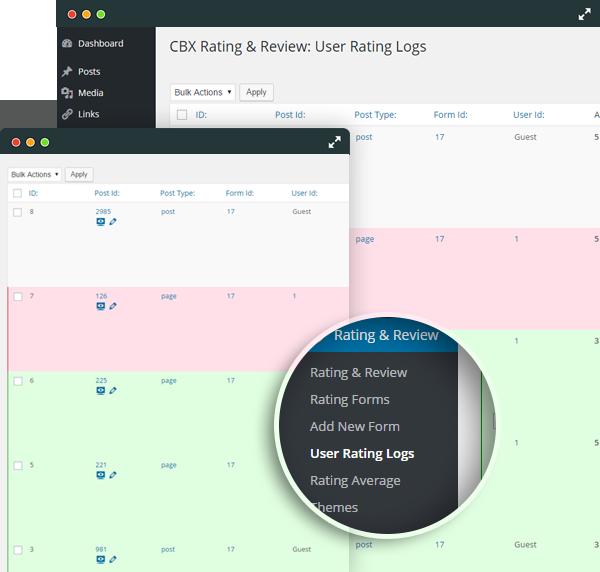 Rating Log