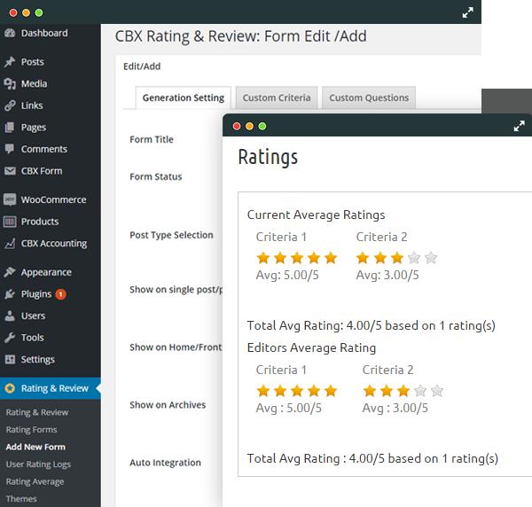 Multi-Criteria Flexible Rating System