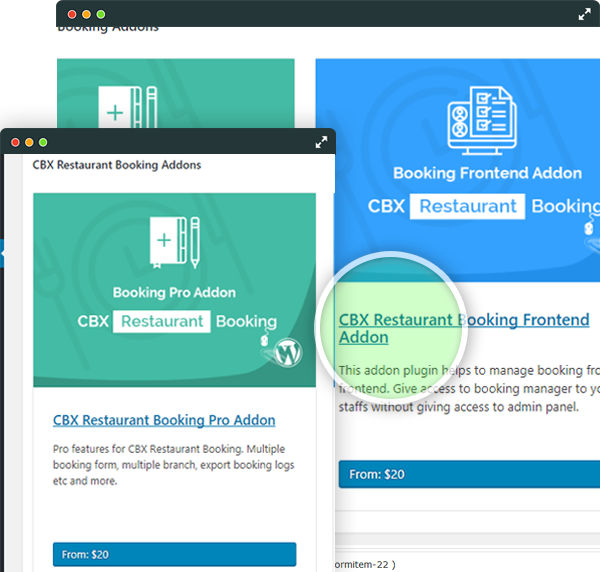 CBX Restaurant Booking - Addon Supported