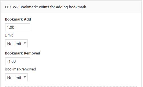 cbx bookmark mycred addon configuration
