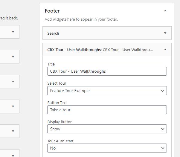CBX Tour - User Walkthroughs/Guided Tours - Widget & Shortcodes