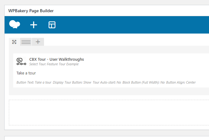 CBX Tour - User Walkthroughs/Guided Tours - WPBakery Page Builder Support