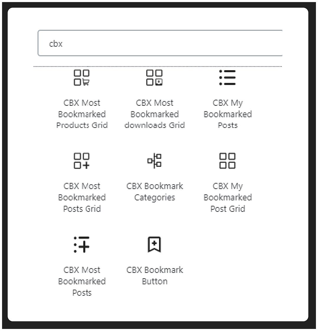 CBX Bookmark for WordPress - Gutenberg Blocks Available