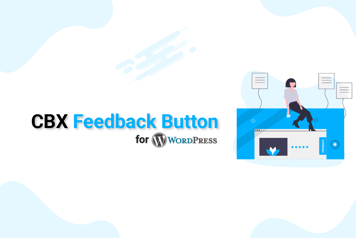 fixed vertical feedback button for WordPress
