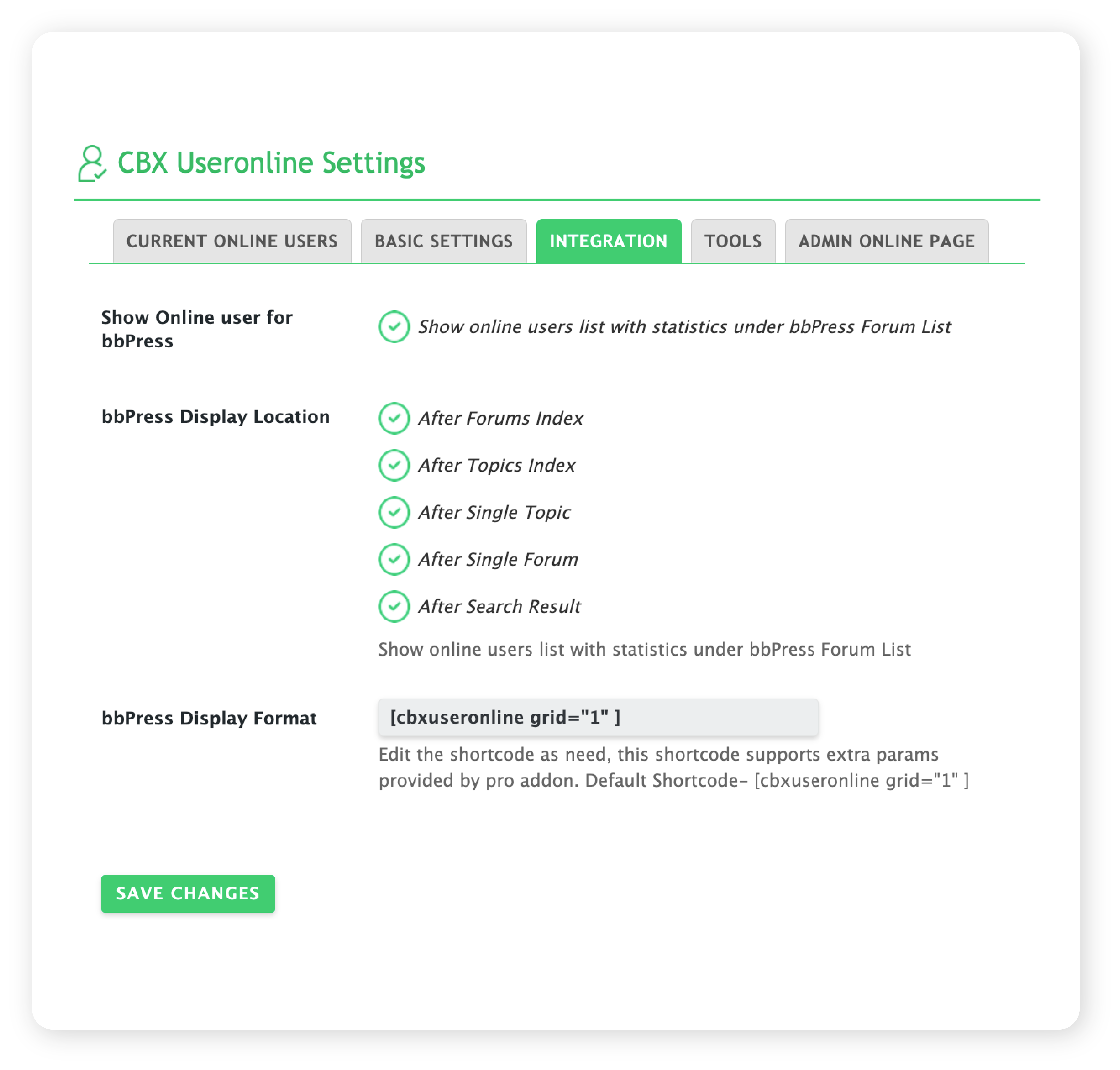 CBX User Online & Last Login - Buddpress & BBpress Integration