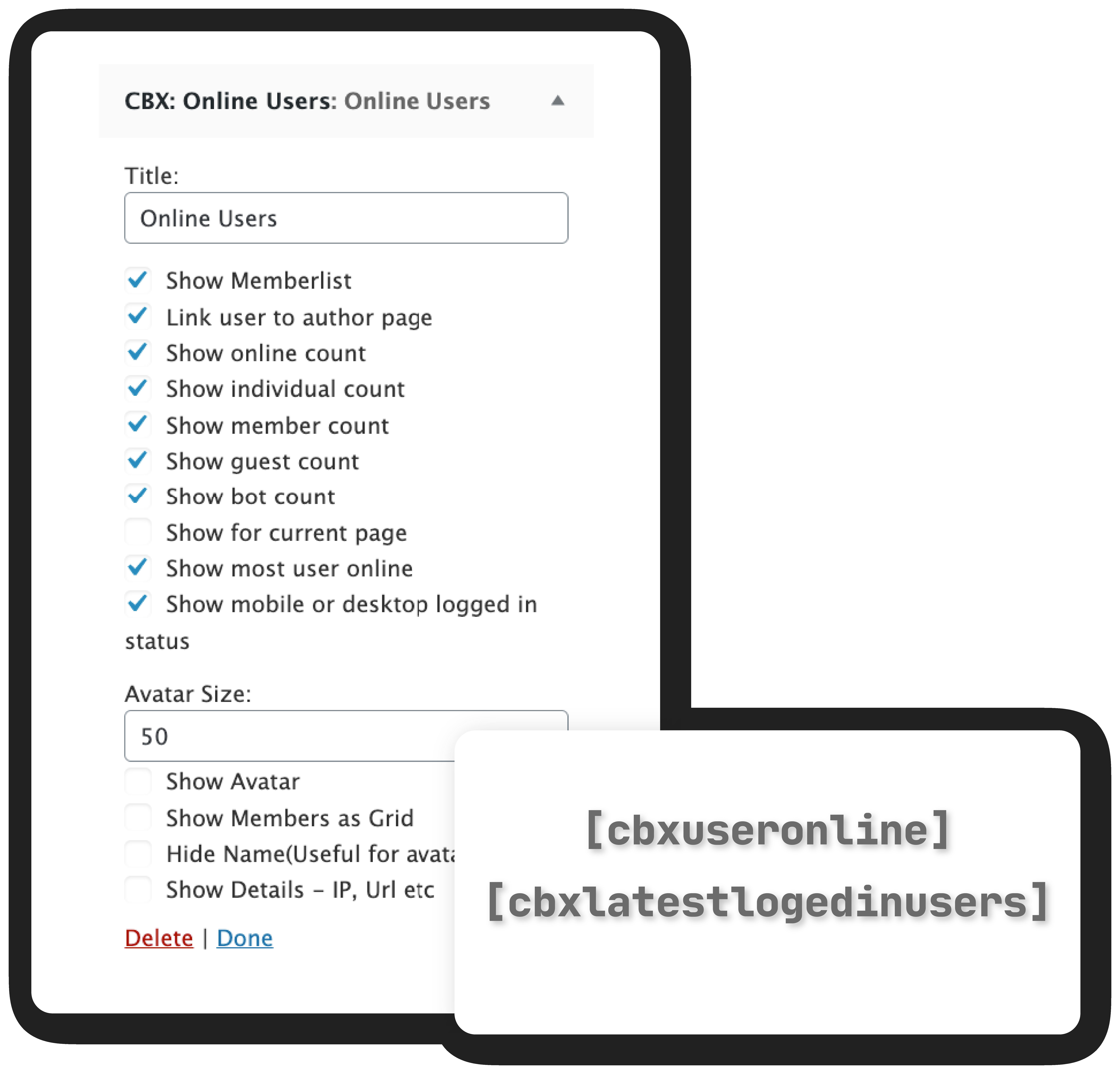 CBX User Online & Last Login - Shortcode & Widgets