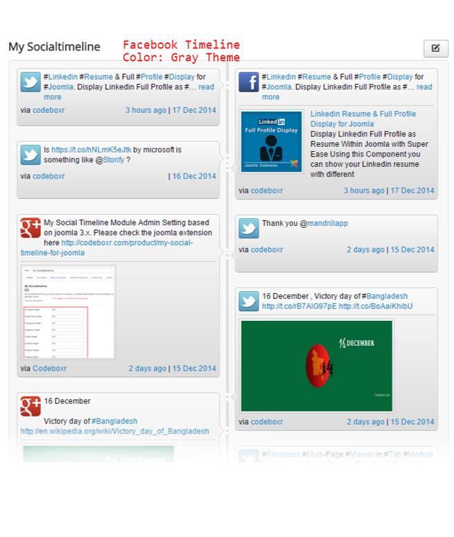 my social timeline joomla component modules codeboxr