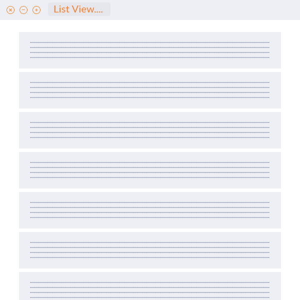Simple List View