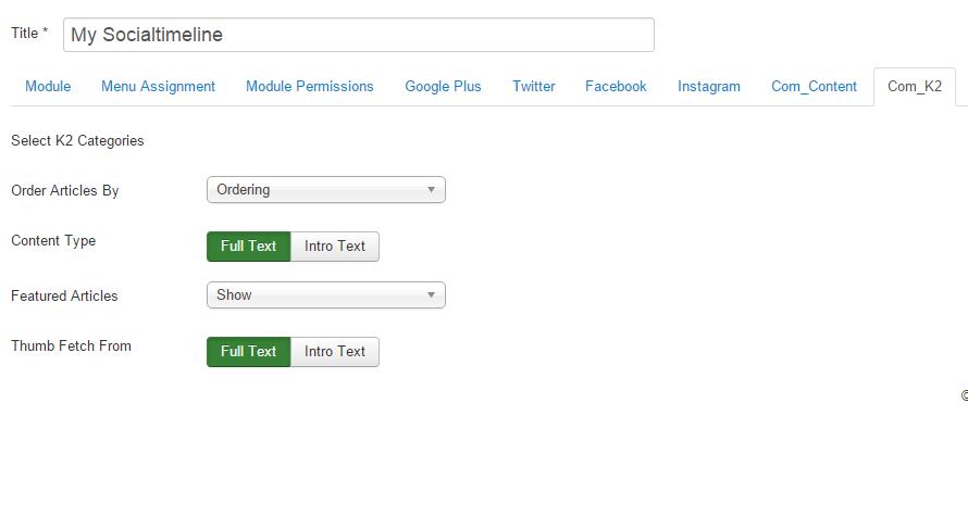 com_k2 configure