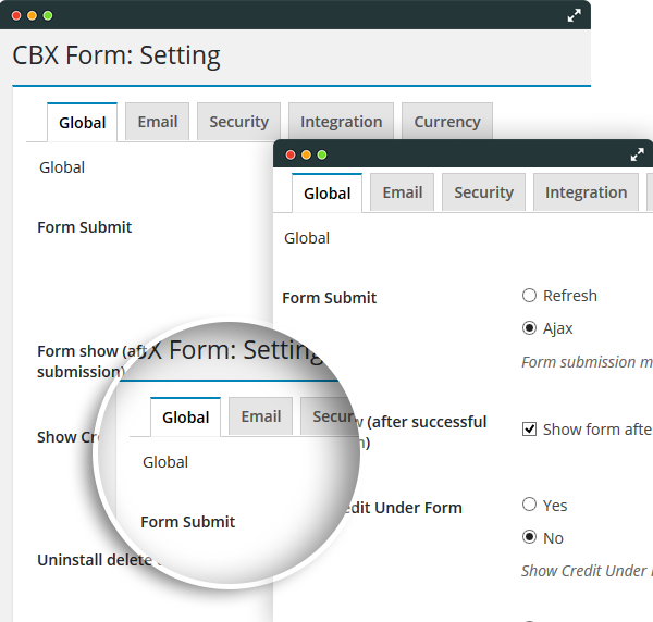 CBX Forms - Extendable Settings api