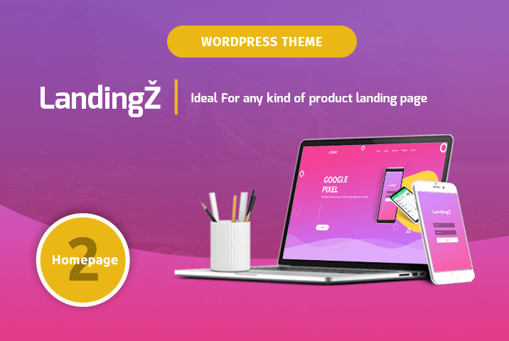 landingz app landing wordpress theme