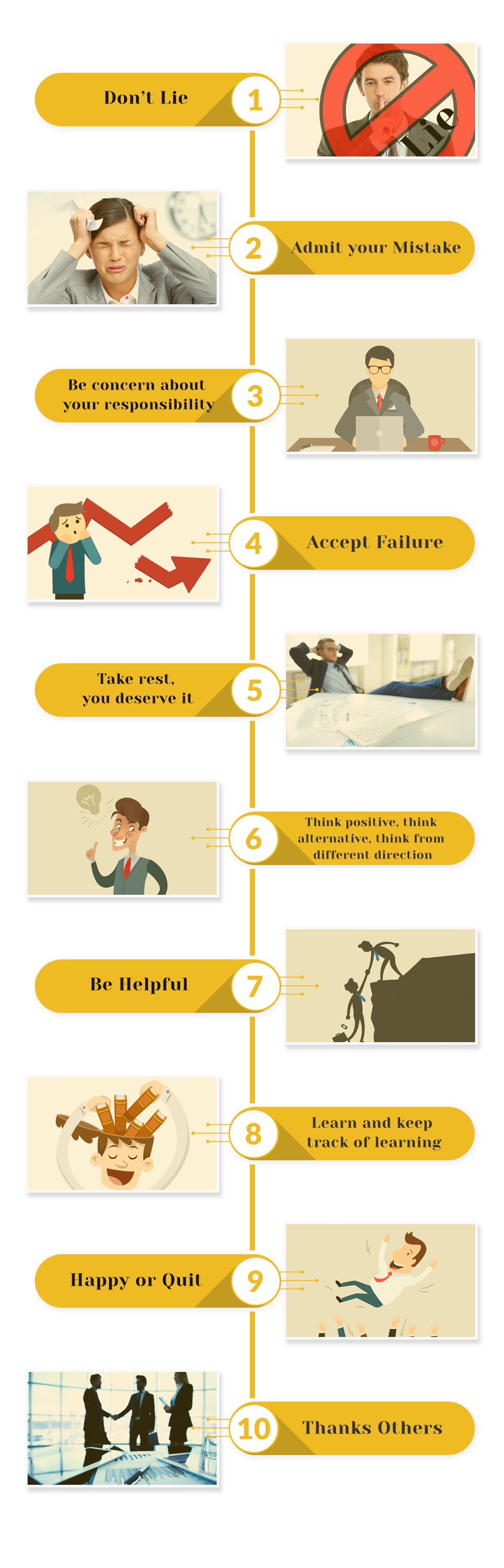Infographic-10 tips for any Professional