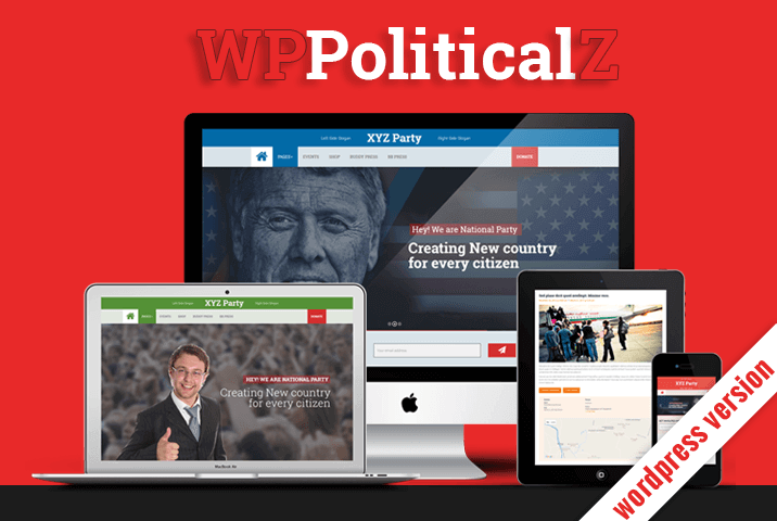 WPPoliticalz - Election Campaign Political Wordpress Theme