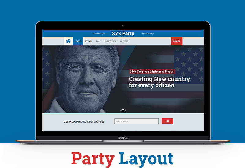 WPPoliticalz-Party Layout
