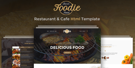 Foodie - Restaurant & Cafe HTML Template